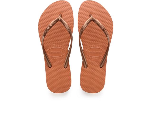 havaianas Slim Logo sandaalit Naiset, orange cyber